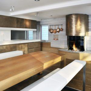 Kitchen in Germany - brass