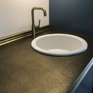 Counter tops brass - private residence Bonita Springs